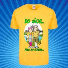 Camiseta con caricatura de abuelos