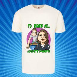 Camiseta con caricatura de pareja