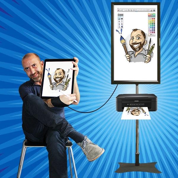 caricaturista digital madrid