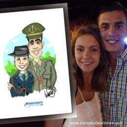 Caricatura de pareja
