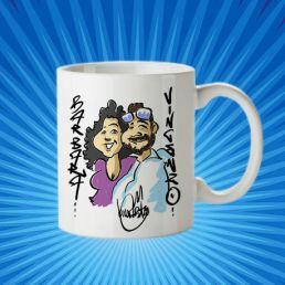 taza gema con caricatura