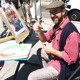 Donato Sammartino caricaturista en papel