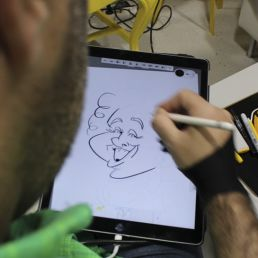 caricatura digital en vivo