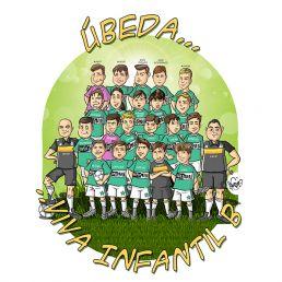caricatura de grupo de futbol