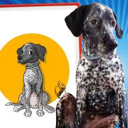 Caricatura de mascota desde una foto