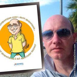 Invitación personalizada caricatura