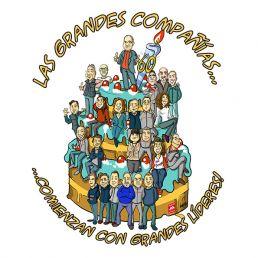 Caricatura de grupo de empresa
