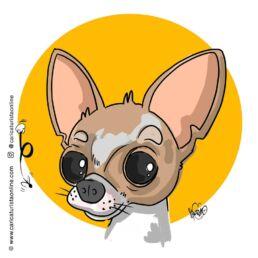 caricatura de mascota perro