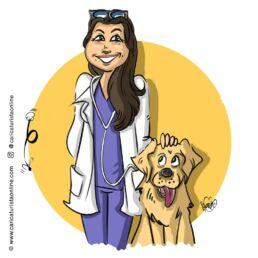 caricatura de perro